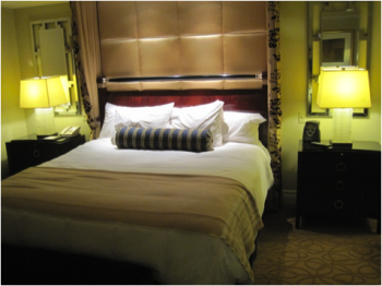 A hotel room originally designed for the Sands Casino