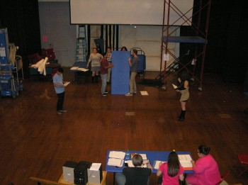 Theater students set the stage for their upcoming musical