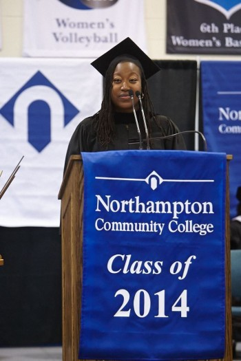 2012 NCC alum LaToya Brown gave this year's Winter Commencement speech