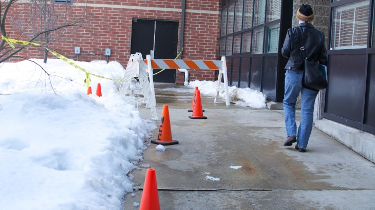 Some students are finding it hard to cope with this year's consistent snowfall and frigid temperatures
