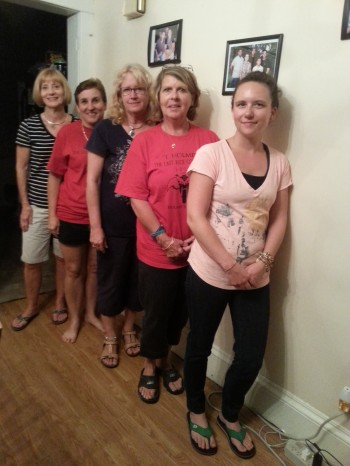T-Holmes Foundation board members and volunteers. From left to right: Kathy Duelley, Diane Holmes, Kathy Morrow-Coelker, Donna Musselman, Jen Musselman