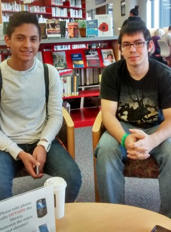 Aaron Rosengarten and Jose Galarza are two of the student leaders of the Ban The Bottle campaign.