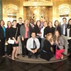 The Hospitality Management Club just finishing a  tour of the Palmer House, a historic hotel in Chicago.