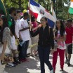 NCC students represent diverse backgrounds with flags at Quadfest