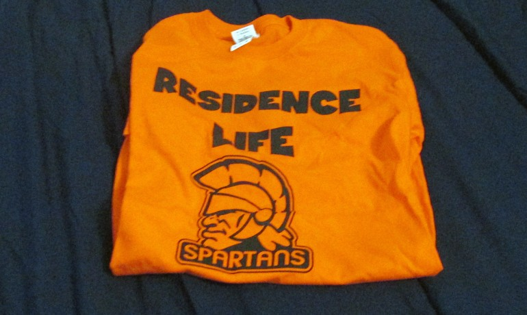A T-shirt promoting the new residence hall (Photo Credit: Mitchell Indelicato)