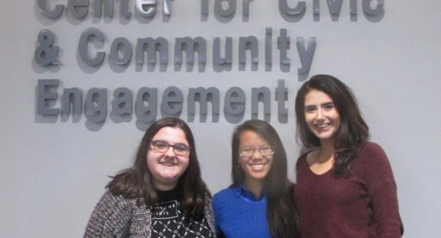 (From left to right) NCC Students: Margaret Richter, Sara Reichard and Sabrina Moll